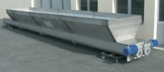 двойной шнековый конвейер с валом или без вала