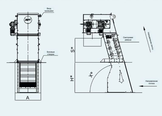схема ленточной решетки