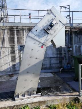 грабельная механическая решетка