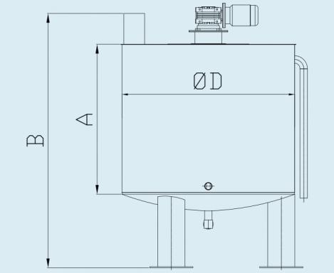 схема аппарата для получения известкового молока