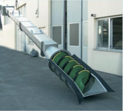 FC/U шнековая решетка для потоков с высоким содержанием твердых частиц в сборе