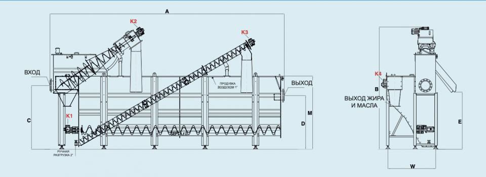 схема комбинированной установки механической очистки сточных вод