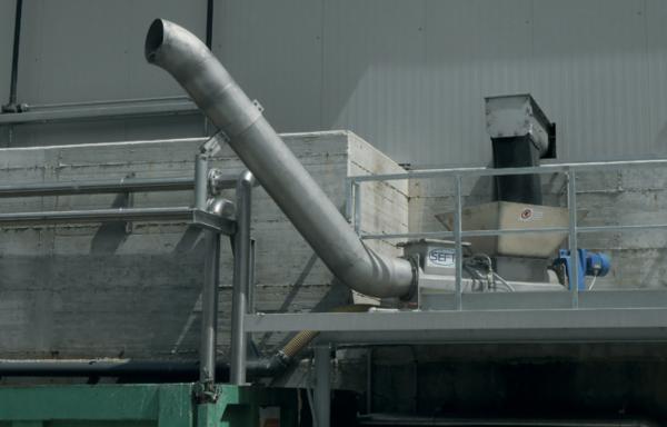 шнековый уплотнитель отходов