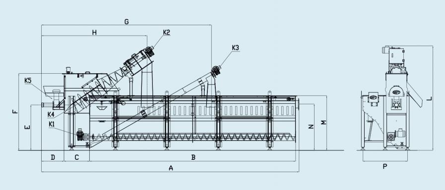 схема комбинированной установки для приема сточных вод после ассенизаторских машин (с жироуловителем)